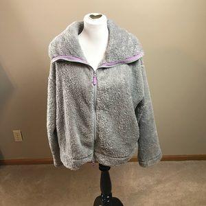 Free People Movement Gray Fleece Coat
